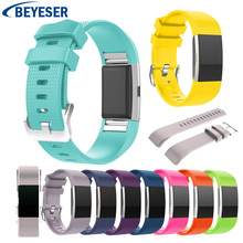цена на Smart classic Silicone Bracelet Band For Fitbit Charge 2 Strap for Fitbit Charge2 sport Strap replacement watch band watchstrap
