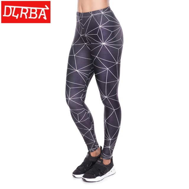 5383ab5ff4881 DLiRBA Indoor Sport Leggings Lightning print Fitness Gym Leggings Seamless  Slim Compression Squat Tights High Waist