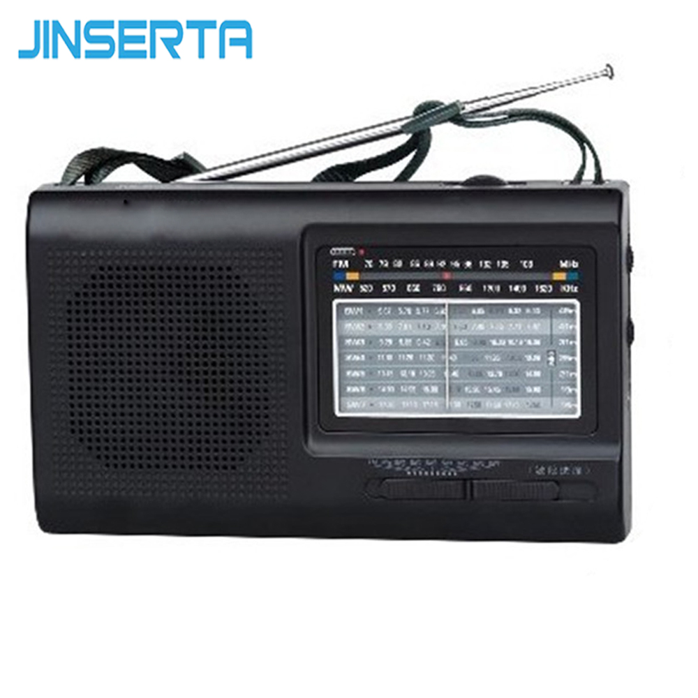 JINSERTA FM SW MW Radio Multi Band Radio Receiver High Sensitivity Support Battery/AC power supply 5pcs pocket radio 9k portable dsp fm mw sw receiver emergency radio digital alarm clock automatic search radio station y4408