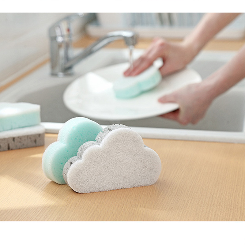 5 Pcs Household Cleaning Magic Rubbing Tools Cloud Shape Sponge Brush Hot Sale