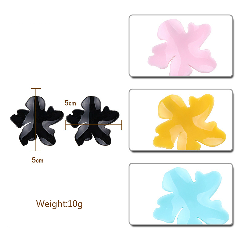 New Pinky Color Cute Stud Earrings For Women Fashion Resin Acrylic Big Flower Earrings Wedding Party Jewelry Brincos Wholesale