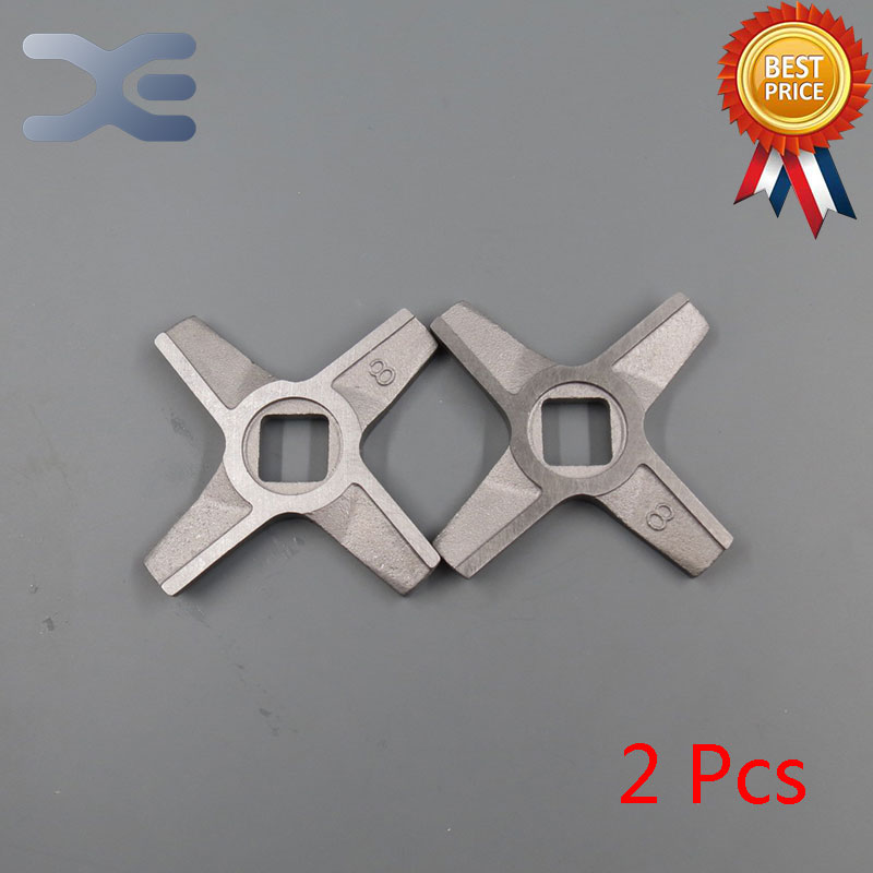 2Per Lot Free Shipping High Quality Meat Grinder Parts 8# Blade Mincer Knife Fits For Zelmer