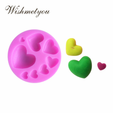 WISHMETYOU Different sizes 8 Even Love Shape Cake Decorating Tools Sugar Chocolate Cookies Handmade Send A Lot Of Soap Mold
