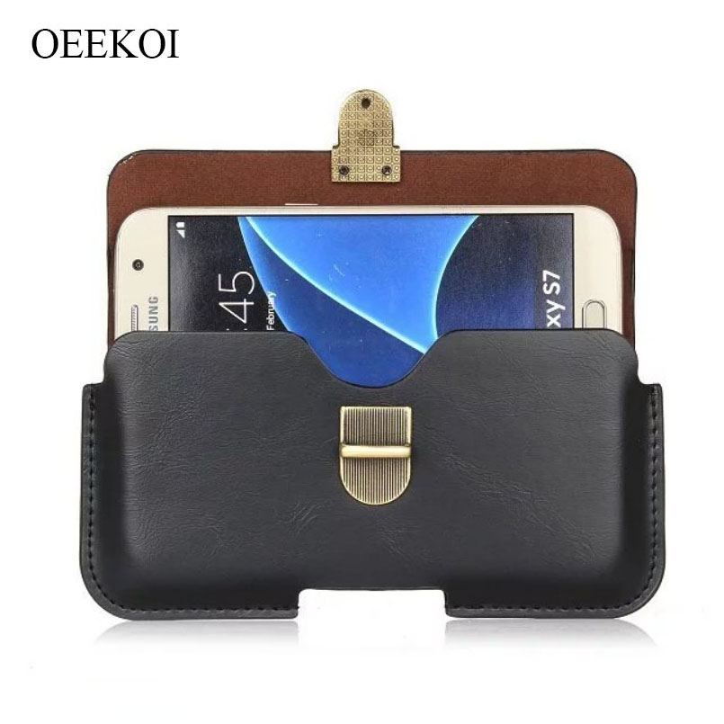 Latest Collection Of Oeekoi Pu Leather Belt Clip Pouch Cover Case For Lava Iris Alfa L/550q 5.5 Inch A Wide Selection Of Colours And Designs Cellphones & Telecommunications Phone Pouch