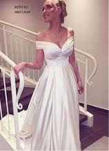 Пляжные vestido de noiva 2020 Дешевые Свадебные платья с v образным
