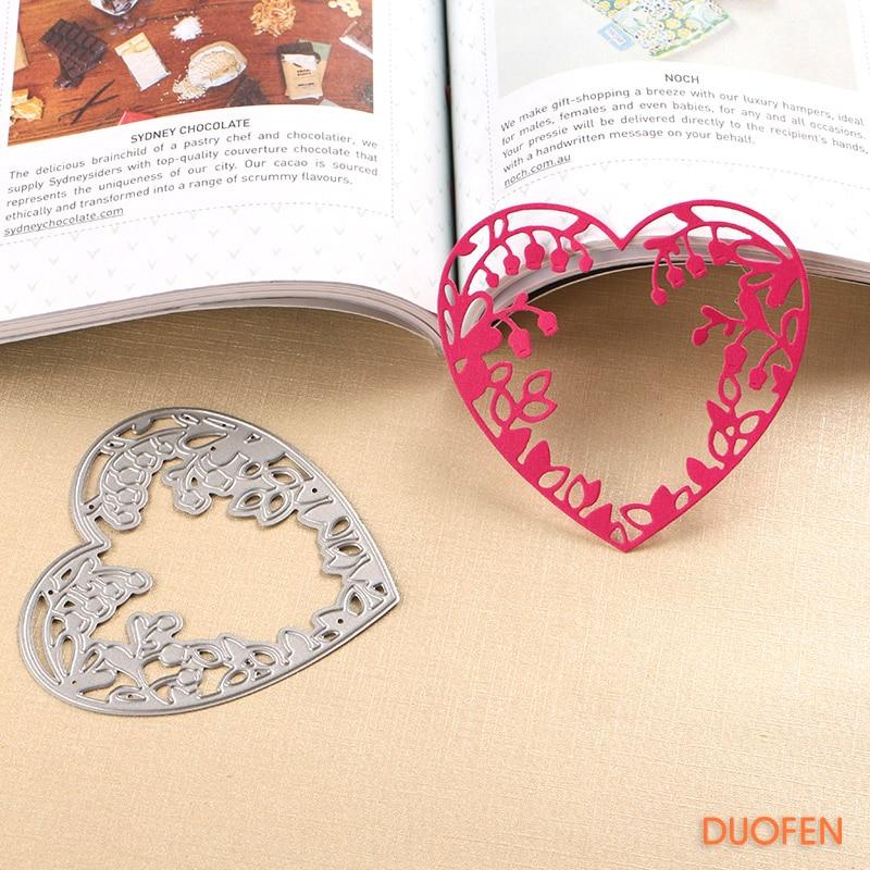 Hollow love Design Metal Cutting Die For DIY Scrapbooking Album Paper Card CA