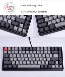 Keycool 84 Mini Keyboard Mekanik PBT Keycap Mini84 Permainan Kompak Keyboard Sisi Cetak Tombol Retro Dolch Cherry MX Tombol
