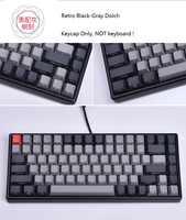 Keycool 84 mini clavier mécanique PBT keycap mini84 compact jeu clavier impression latérale keycaps rétro Dolch cherry mx touches