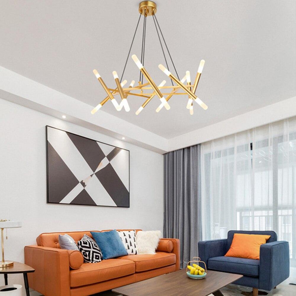 Candelabro de techo con ramas de árboles de moda nórdica Decoración LED diseño moderno interior para dormitorio comedor candelabro - 2