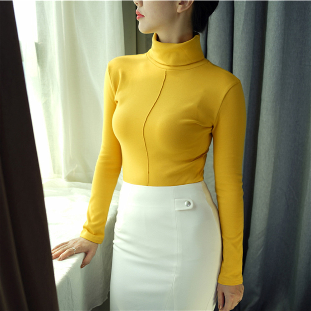Sweater Female Soft Korean Style Skinny Winter Turtleneck Women Bodycon Basic Pullovers Long Sleeve Pull Femme Coat Female Top 8