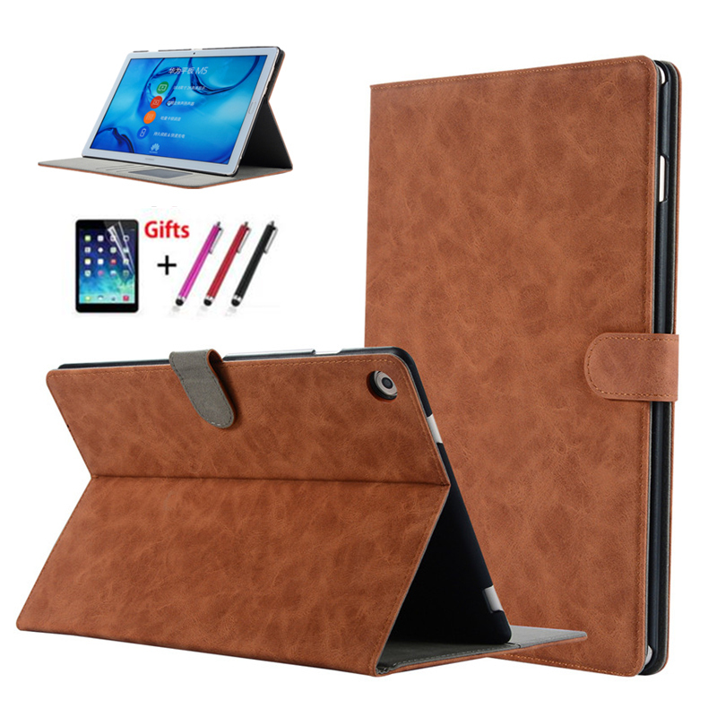 For Huawei Mediapad M5 Pro Premium Leather Business Folio Stand Auto Wake UP Case for Huawei Mediapad M5 10.8 CMR-AL09 CMR-W09 huawei mediapad m5 cmr w09 10 8 inch 4gb 64gb face identification