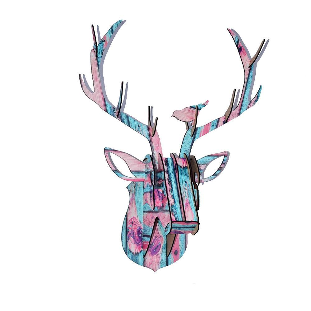 Купи DIY Голова оленя для интерьера из МДФ на алиэкспресс со скидкой