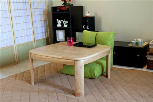 Kotatsu Japanese Living Room Furniture Natural Finish 80cm Tatami Low Foot  Warmer Heated Contemporary Coffee Table