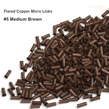 1000 pieces 3.0*2.6*6.0mm Flared edge copper micro ring dreadlock ring micro beads ring hook hair extension tool