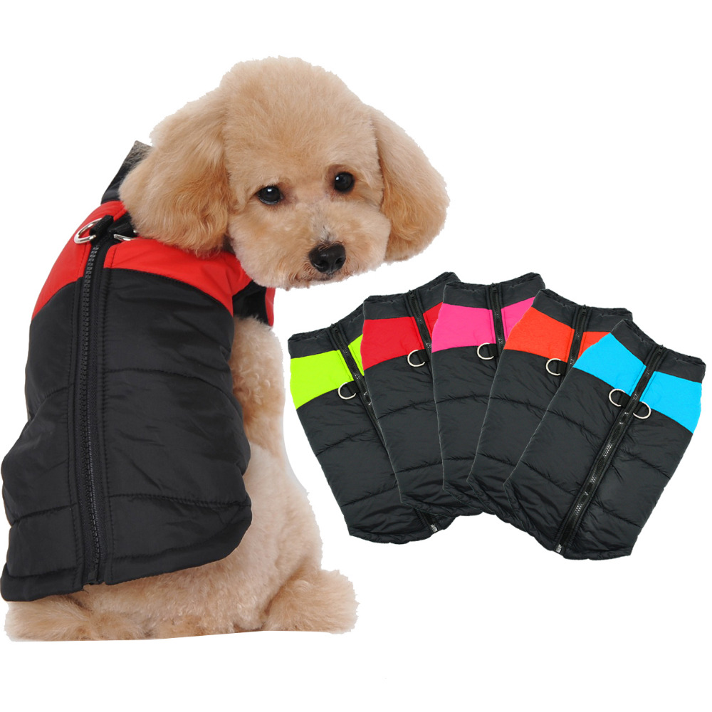 ubest Dog Jacket Waterproof with D-Ring Warm Padded Puffer Vest Red Medium