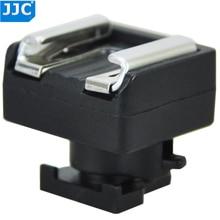 JJC Mini المتقدمة الحذاء الساخن إلى الحذاء العالمي محول جبل لكانون S21/S200/G10/S30/M52/200/M32/S20/S11/S10/M300 الاتصال LED
