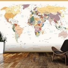 Custom kids wallpaper,Political World Map Vintage Colours,3D