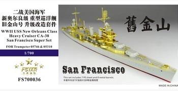 """Cinco Estrellas FS70036 US Navy CA-38 """"San Francisco"""" crucero pesado de actualización de metal grabado"""