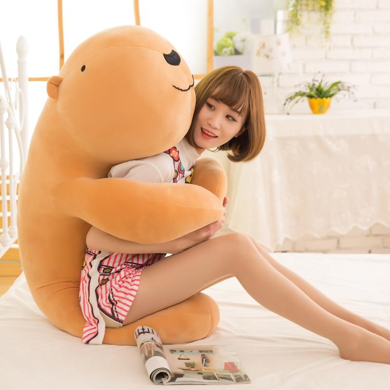 New Lovely Large Soft Animal Capybara Plush Toy Big Stuffed Cartoon Hug Pillow Cushion Bear charming cartoon animal printed square new pillow case(without pillow inner)