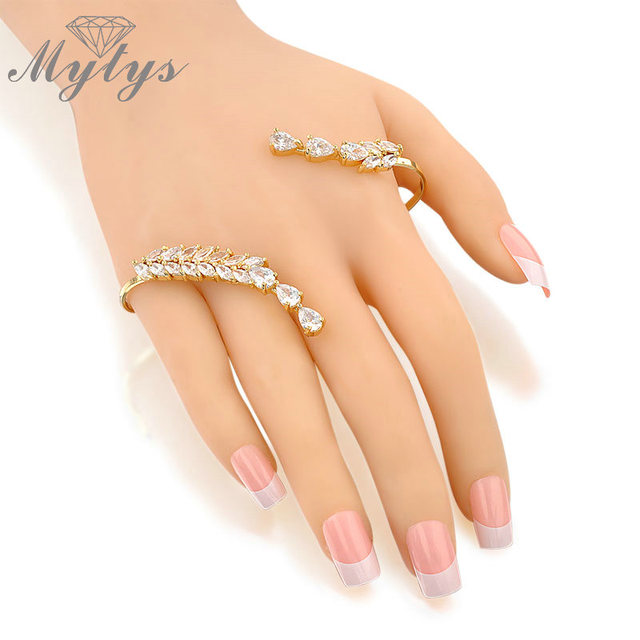 Mytys 2017 Fashion New Jewelry Category the handlet palm bracelet for women trendy Hand palm Jewelry Bangle R214