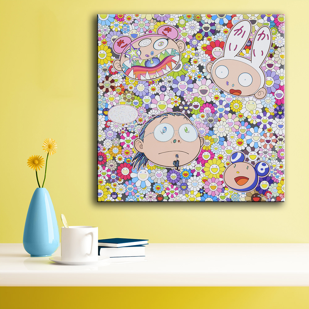 Large size Print Oil Painting Wall painting catoon pop art Home ...