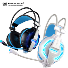 NEW Gaming Headphones EACH G7000 Vibration Function/Breathing LED Light Earphone Game Headset With Mic Surround 7.1 Sound for PC