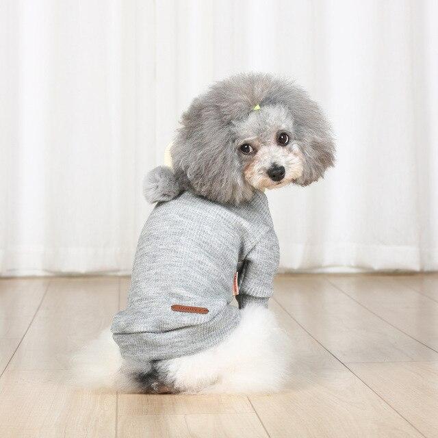 Gato lindo perro de mascota punto ganchillo suéter perros pequeños ...