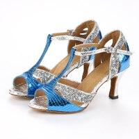 Sexy 6cm High Heel Woman Sequins Latin Dance Shoes Zapatos De Baile Salsa Latina Women Ballroom