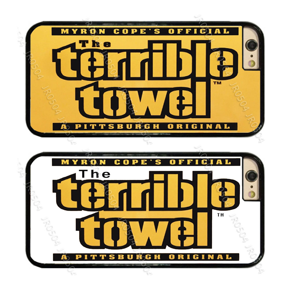 JR0504 Pittsburgh Steelers Terrible Towel PC+TPU Edge Phone Case Cover For iphone X 5s 6s 7 8 Plus Samsung s5 s6 s8 J5 2016 T010