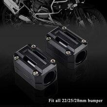 Мотоцикл 22 мм 25 мм 28 мм защита двигателя бампер Декор блок для Honda Africa Твин CRF1000L NC700X VFR1200X Crosstourer