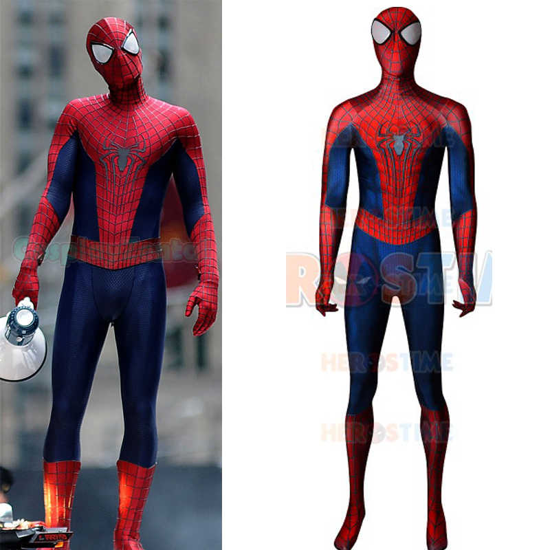 Incrível spiderman 2 cosplay traje 3d impresso spiderman cosplay traje elastano zentai bodysuit spiderman super-herói traje