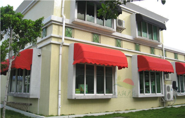 Retractable shade canopy awning windows watermelon Punta French aluminum folding umbrella outdoor balcony & Retractable shade canopy awning windows watermelon Punta French ...