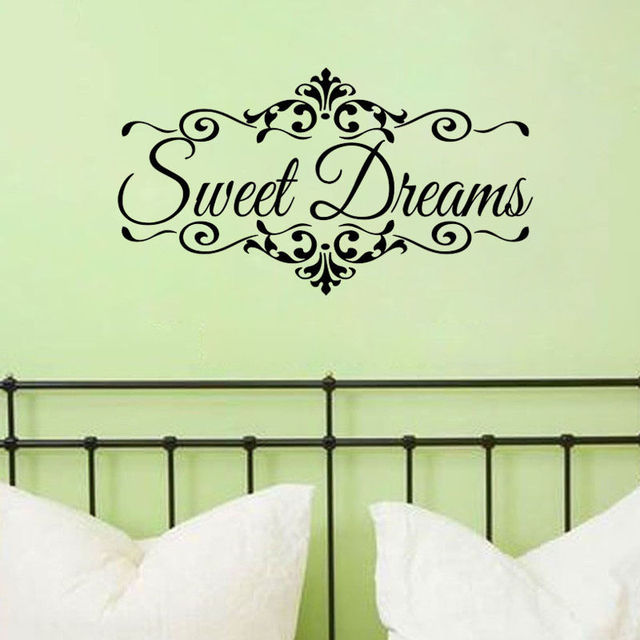 sweet dreams wall sticker words decoration bedroom wall decor quote