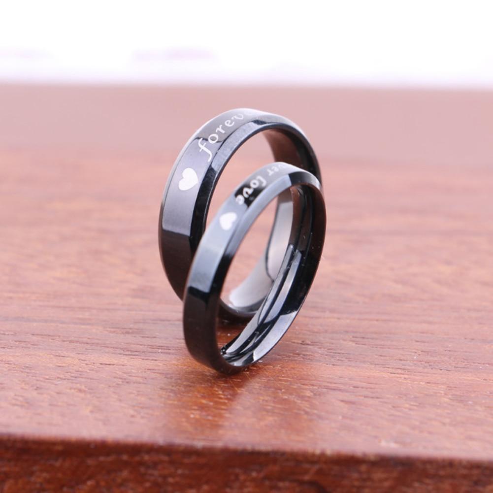 1Pc! Forever love Titanium steel Couple Ring For Men Women Wedding ...