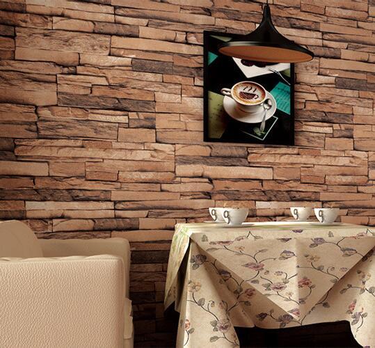 Tapeten Youman Retro PVC Wasserdichte 3D hintergrund wand Vintage tapete  wohnzimmer tapete rolle wand panel kontaktieren papier in Tapeten Youman ...