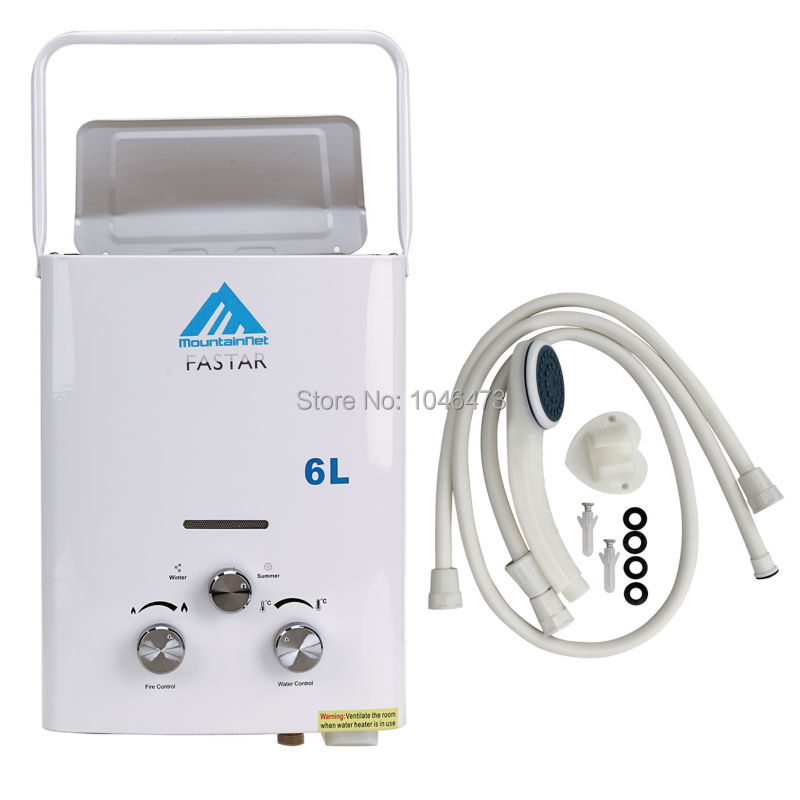 6l 16gpm mini portable propane gas bottle lpg instant tankless water heater boiler with shower head ce - Tankless Propane Water Heater