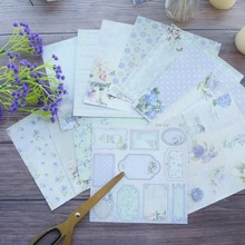 24 sheets DIY 12 style 15.2*15.2cm light purple flower garden theme craft paper scrapbooking creative paper DIY gift use банкетка мебельстория беркли 2 белый левый
