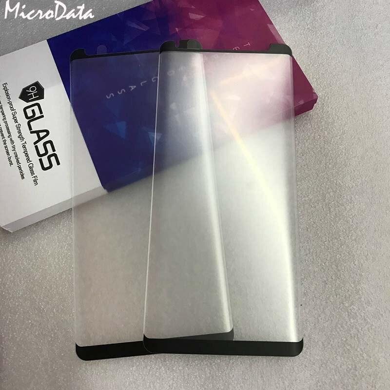 Caso 3d amigável fosco vidro temperado para samsung galaxy s9 plus s8 mais nota 8 note9 fosco protetor de tela para vidro note9