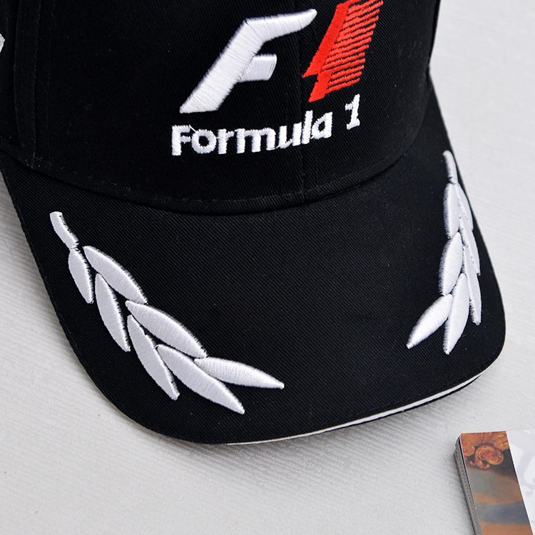 7c1a129d7ff 2016 New Black F1 Racing Team Hat Formula1 Embroidered Letter Snapback  Baseball Cap F1 Style Hats For Men Car Motorcycle Racing-in Baseball Caps  from ...