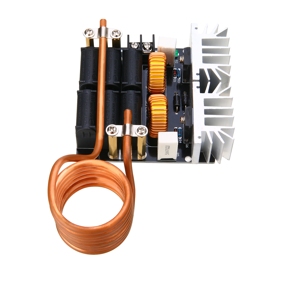 1pc Low Voltage Induction Heating Module DIY Heater Board 1000W ZVS with Tesla Coil diy zvs tesla coil power supply boost voltage generator drive board induction heating module