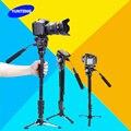Yunteng C288 Pro Монопод + Жидкость с Цилиндрической Головкой Мяч + DV Unipod Держатель Мобильного Телефона Клип Для Цифровой Зеркальный Фотоаппарат Canon Nikon VCT-288