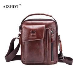 Men Bull Captain Genuine Leather Messenger Crossbody Bag Casual Fashion Male Sling Bag Business Shoulder Bag Clutch Famous Brand