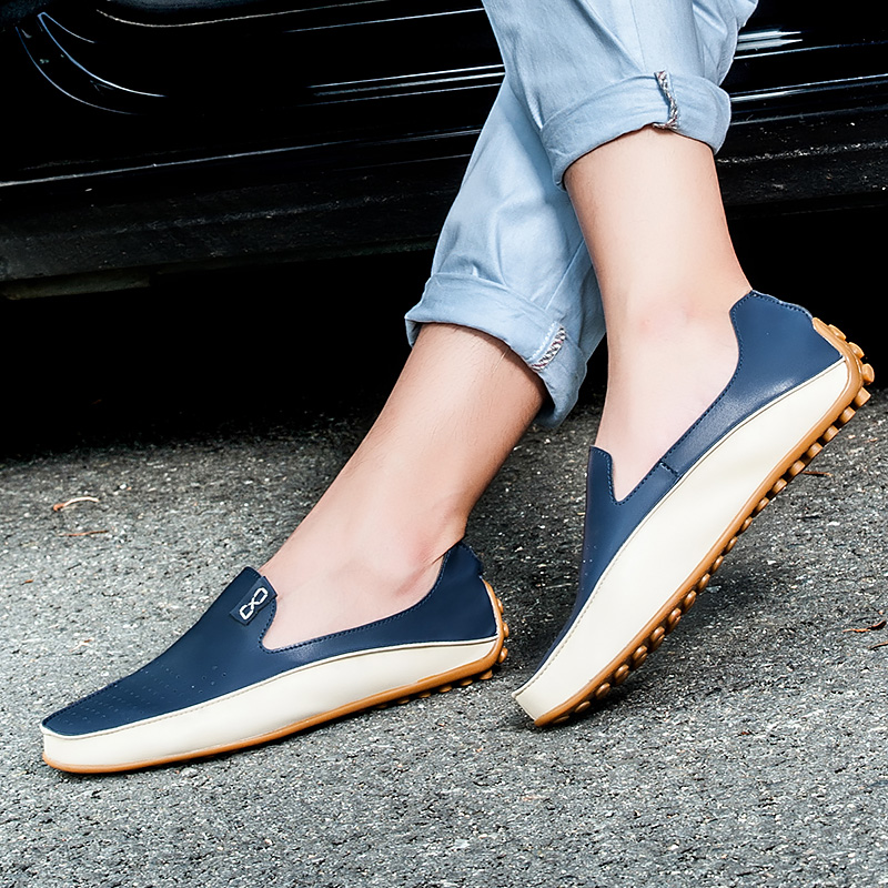 Fashion Leather Shoes Men Breathable Casual Men Leather Moccasins Comfortable Loafers Men Luxury Brand Sneaker Flat DrivingFashion Leather Shoes Men Breathable Casual Men Leather Moccasins Comfortable Loafers Men Luxury Brand Sneaker Flat Driving