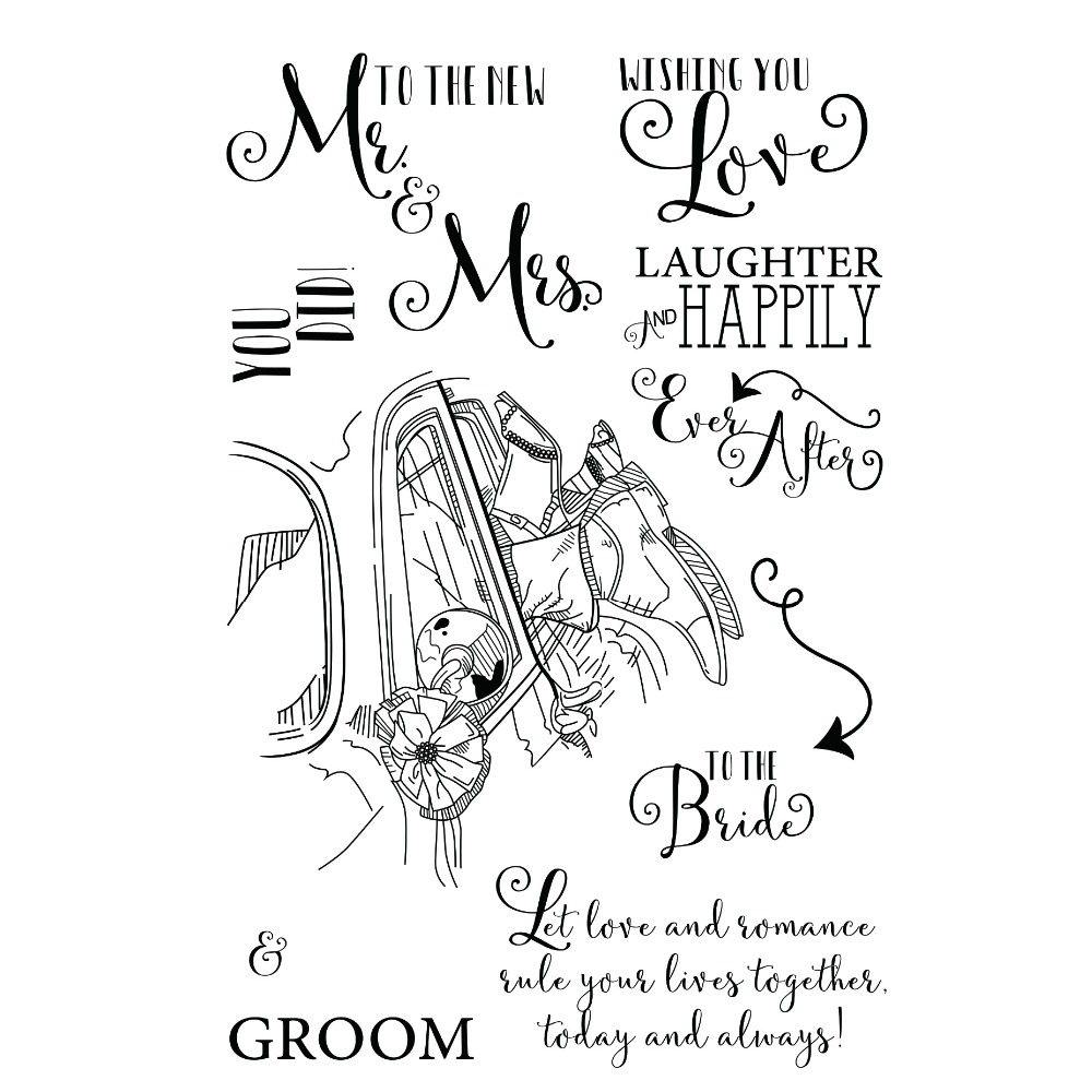 Transparent clear Rubber Silicone Clear Stamps for