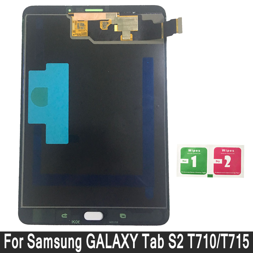 LCD Display For Samsung GALAXY Tab S2 T715 SM-T715 Touch Screen Digitizer Sensors Assembly Panel Replacement LCD Display For Samsung GALAXY Tab S2 T715 SM-T715 Touch Screen Digitizer Sensors Assembly Panel Replacement