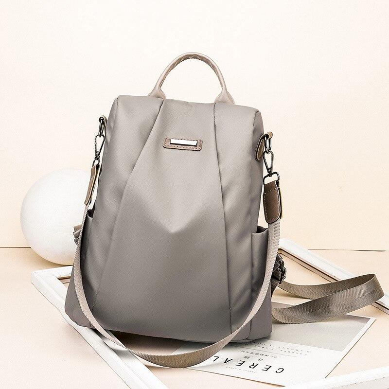 HTB1UPlhXojrK1RkHFNRq6ySvpXaC Fashion Laptop Backpack Nylon Charge Computer Backpack Anti-theft Waterproof Bag for Women Oxford cloth student bag Teenage
