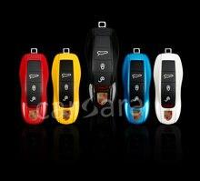 9 cor opcional caso chave do carro para a Porsche carros com pó de pérola tone estilo original Para Porsche Cayenne Cayman Macan 911