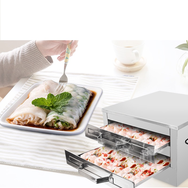 Commercial Steamed Sausage Machine Drawer Type Intestinal Powder Meat Steaming Machine Chinese Intestine Powder Steaming Pan