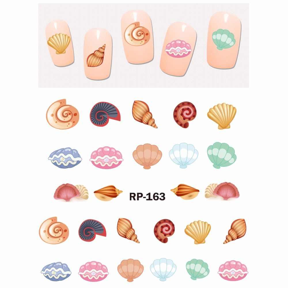 UPRETTEGO дизайн ногтей Красота наклейка на ногти водная слайдер мультфильм под