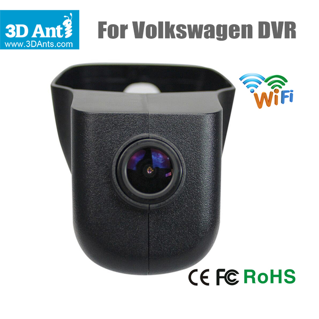 1920*1080P Car DVR for VW Volkswagen Built-in Wifi Keep Car Original Style Car Camera 170 Degree APP Control